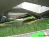 Rasen im Pavillon