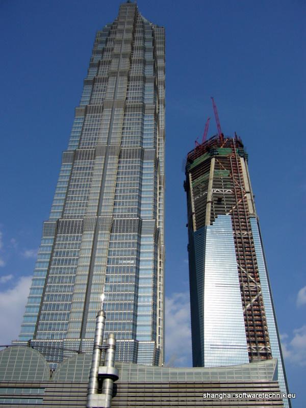 Jin Mao Building (links) und SWFC (rechts)