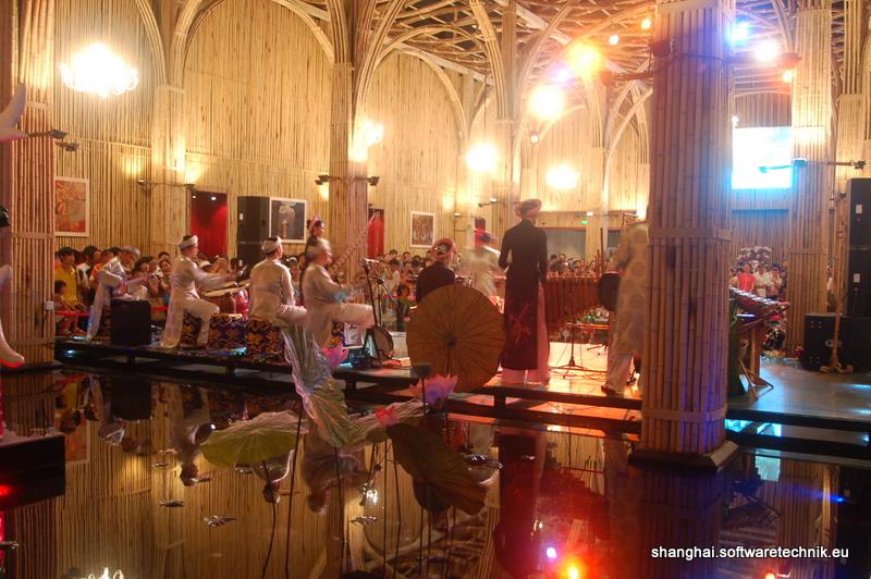 Musiker im Pavillon von Vietnam