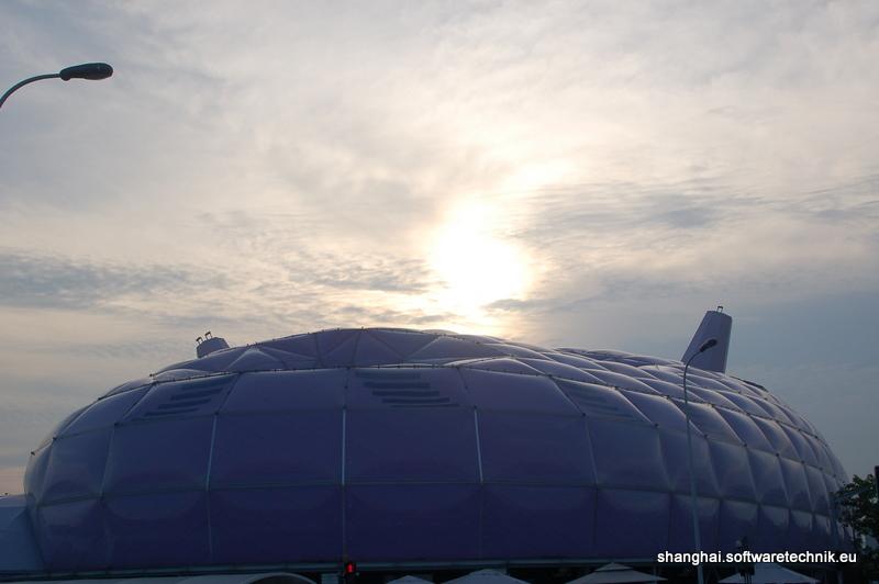 Sonnenuntergang über dem japanischen Pavillon