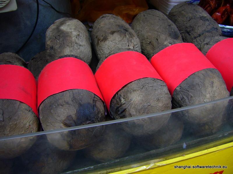 Hähnchenfleisch im Lehmmantel