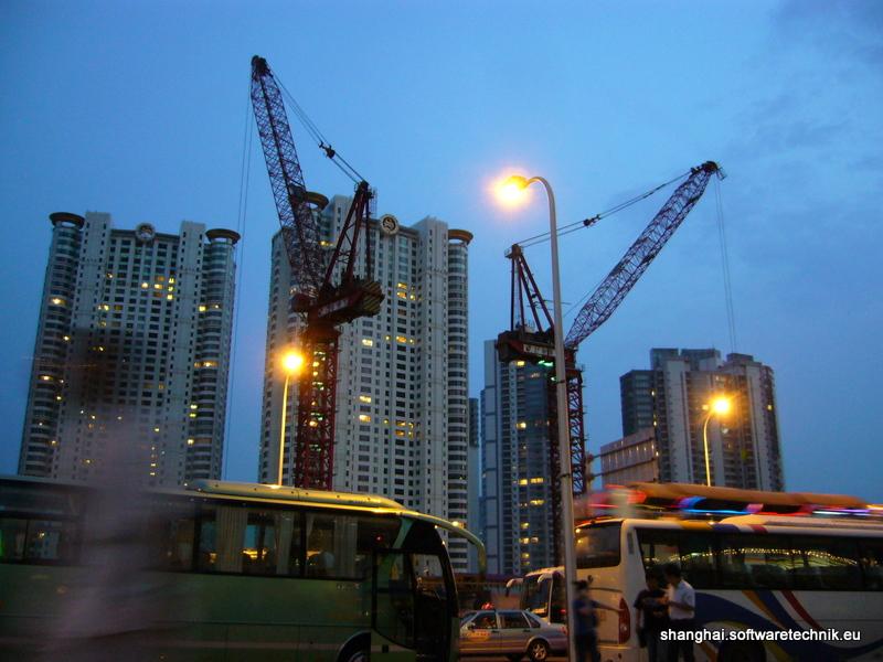 Die Baustelle des Shanghai Towers
