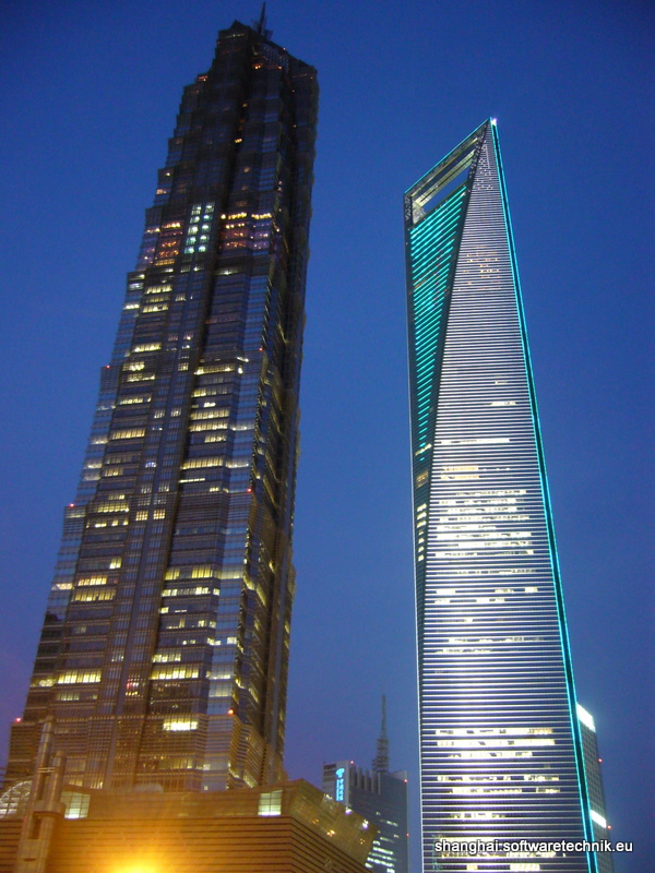 Der Wolkenkratzer Swfc – Shanghai World Financial Center ...