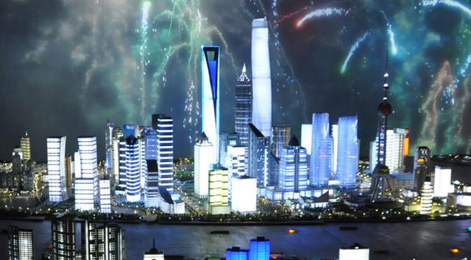 Lujiazui das Finanzzentrum in Shanghai und tolle Sehenswürdigkeit