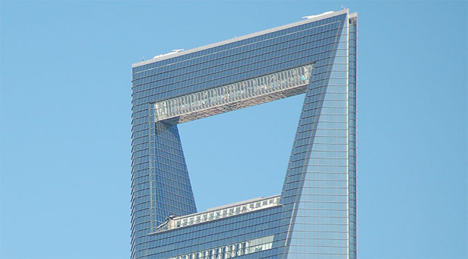 Der Wolkenkratzer SWFC – Shanghai World Financial Center