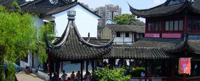 Qibao ist eine Kleinstadt und Sehenswürdigkeit am Rande Shanghai